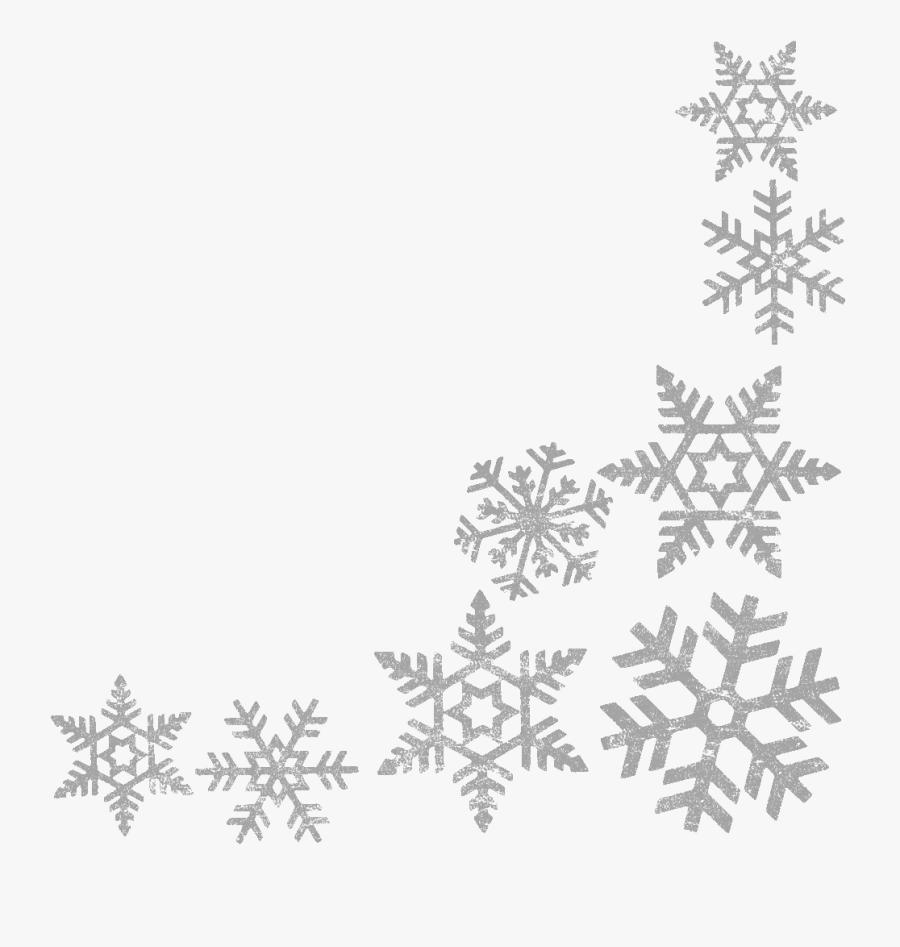 Snowflake Clipart Border Clipartxtras Lime Green Christmas - Transparent Background Snowflake Border, Transparent Clipart