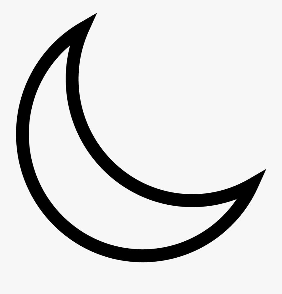 Alchemical Moon Symbol, Transparent Clipart