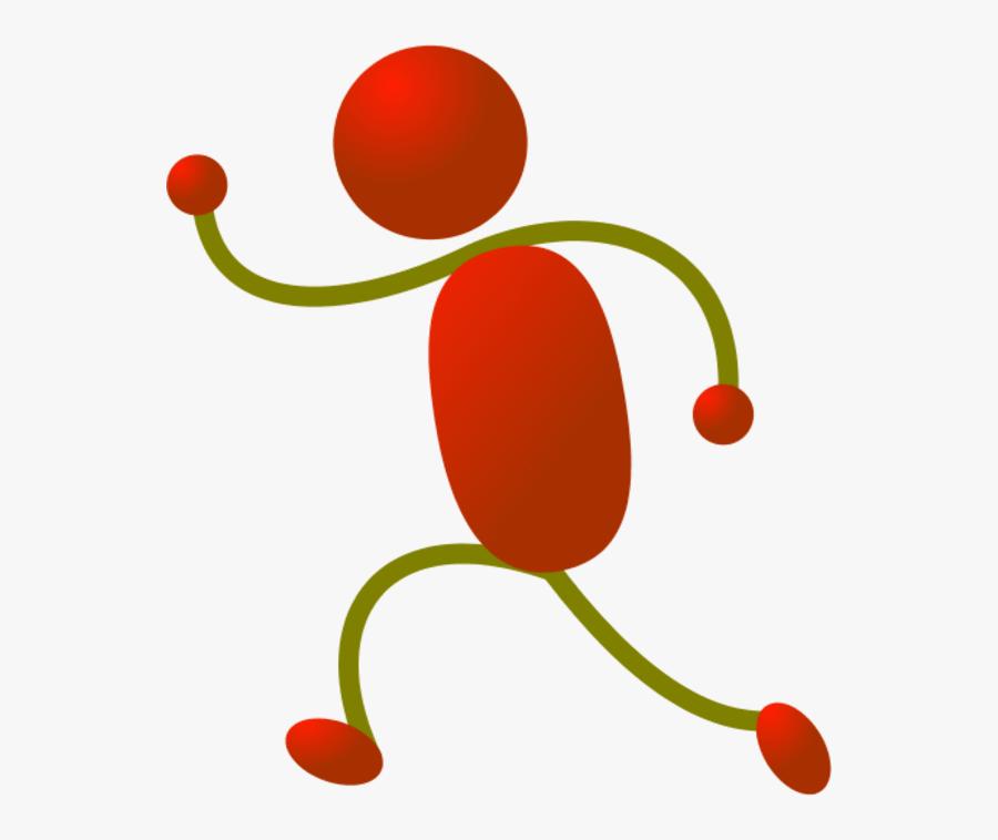 Stick Figure Running Clipart - Color Stick Man Clipart, Transparent Clipart