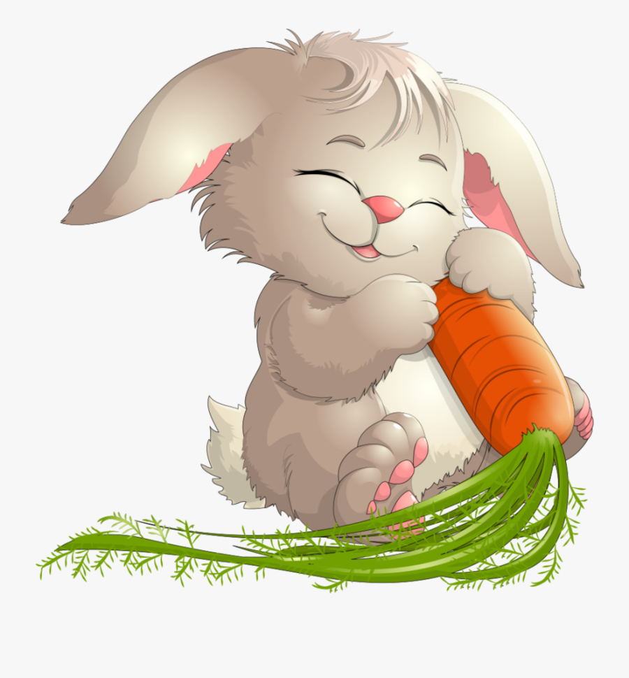 transparent bunny with carrot clipart  hase mit möhre