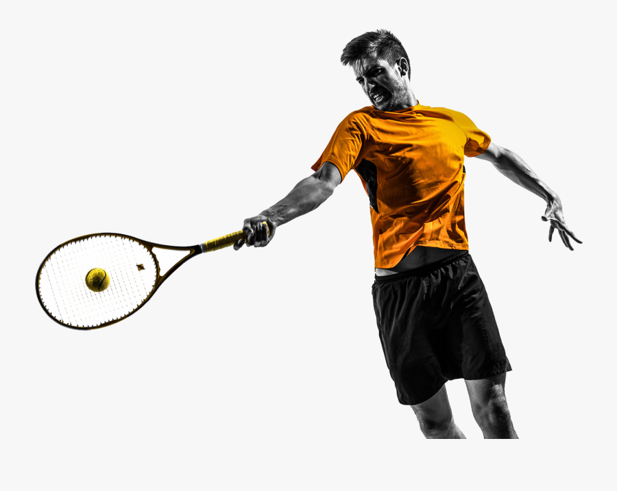 Tennis Session Training Usi Weston - Pro Hitting A Tennis Ball, Transparent Clipart