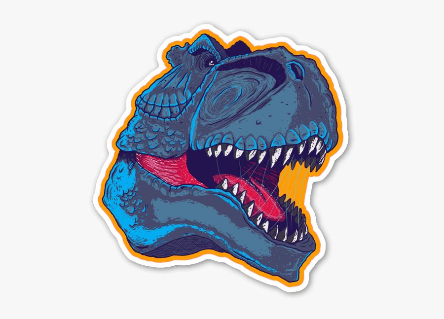 T-rex Sticker - Illustration, Transparent Clipart