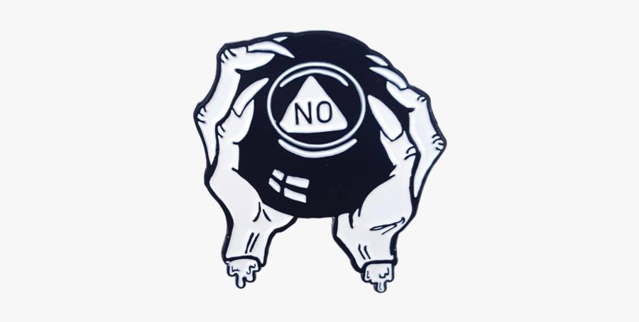 No Magic 8 Ball Pin - Magic 8 Ball Illustration, Transparent Clipart