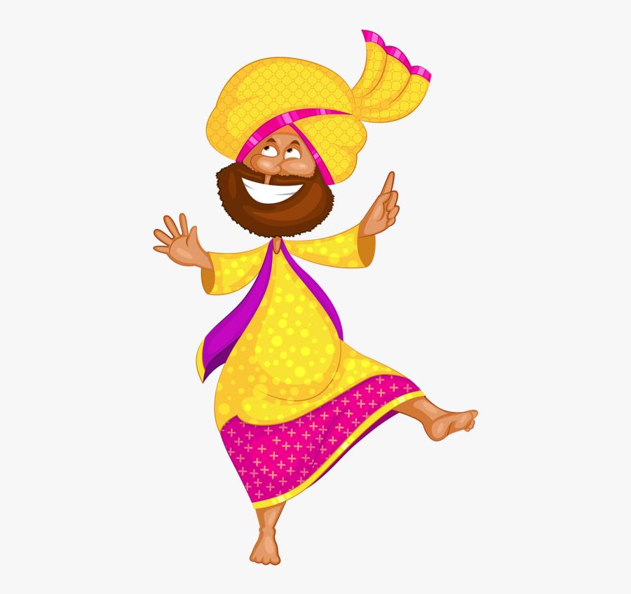 Man Doing Bhangra, Transparent Clipart