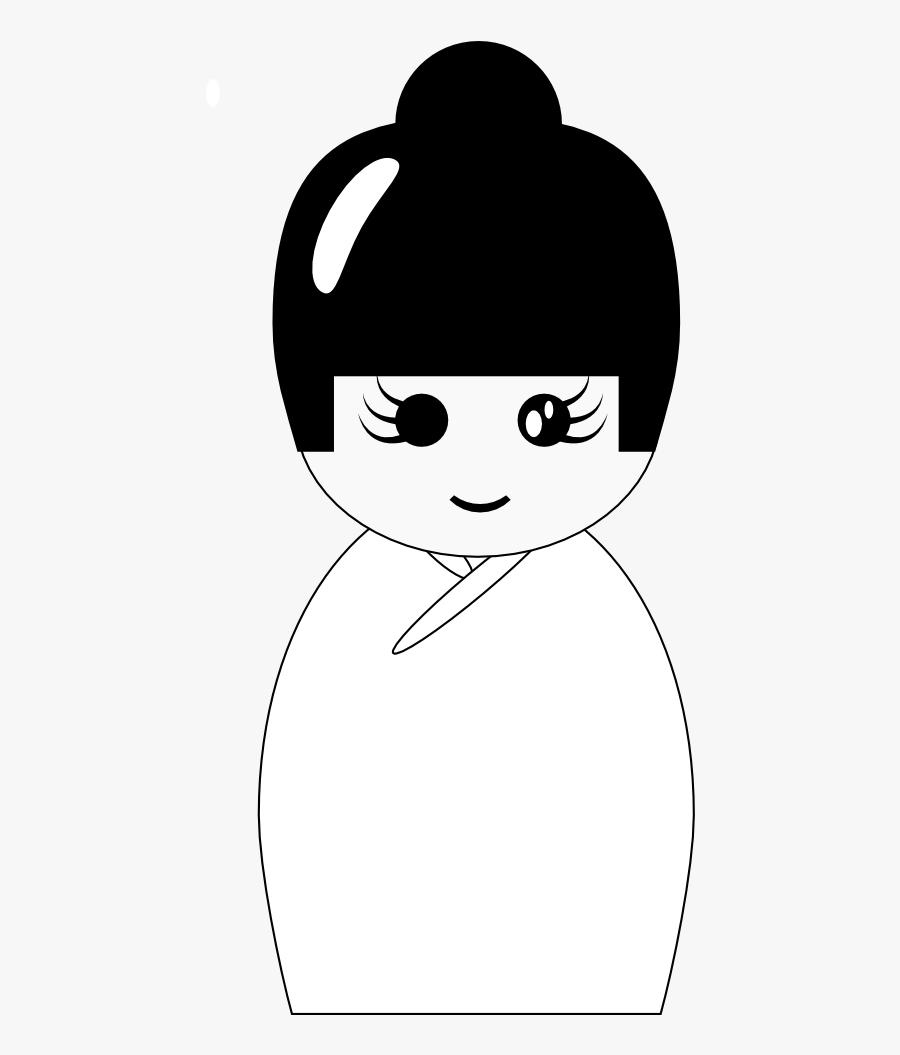 Kokeshi Doll - Doll, Transparent Clipart