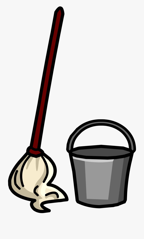 Mop & Bucket Sprite - Mop And Bucket Clipart Png, Transparent Clipart
