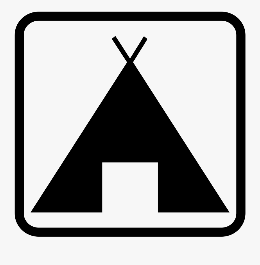 Pictogramme Camping Big Image - Camping Clip Art, Transparent Clipart
