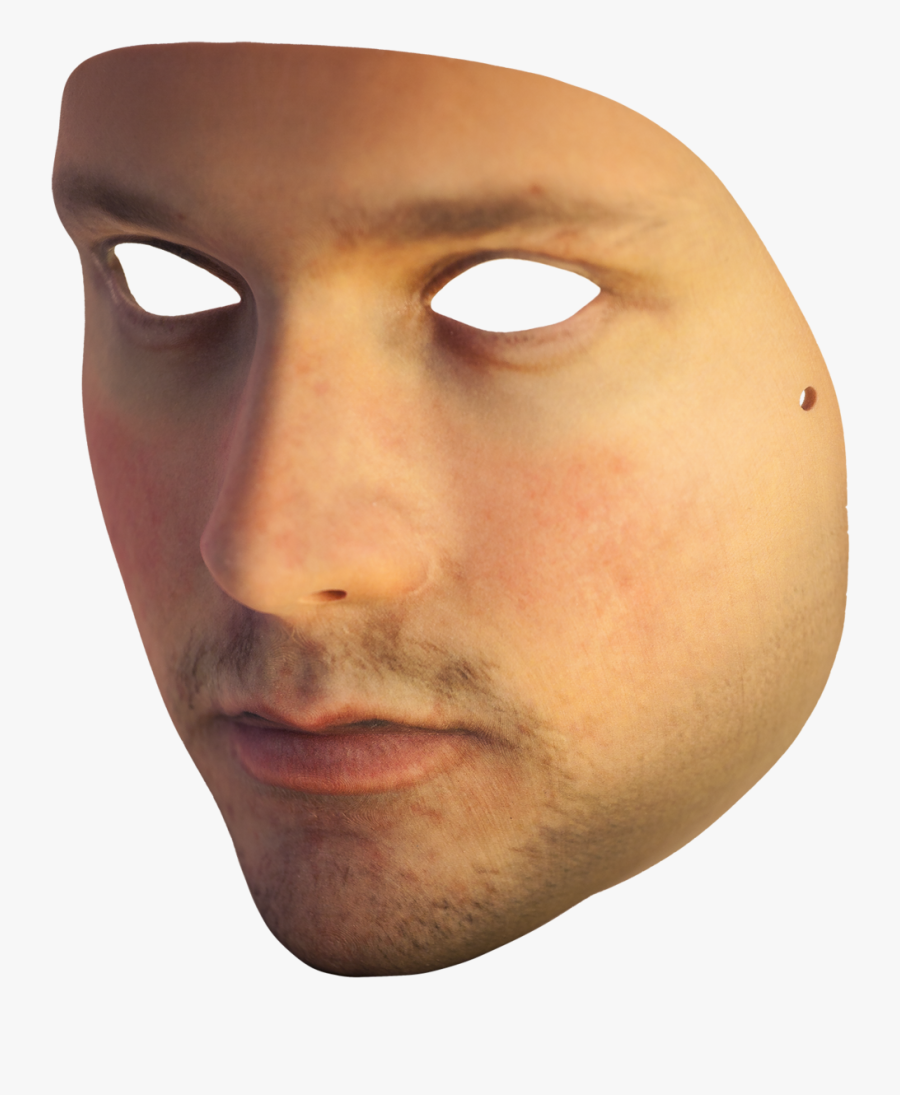Mask Transparent Background - Face On Transparent Background, Transparent Clipart