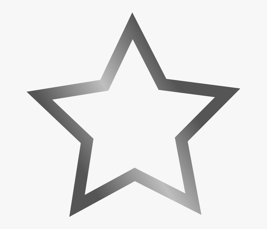 White Star Image - Grey Star Icon Png, Transparent Clipart
