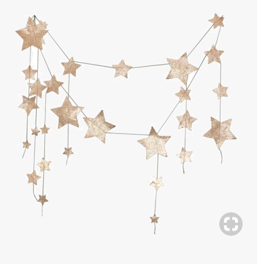Star Garland Png Clipart - Falling Star Garland Gold, Transparent Clipart