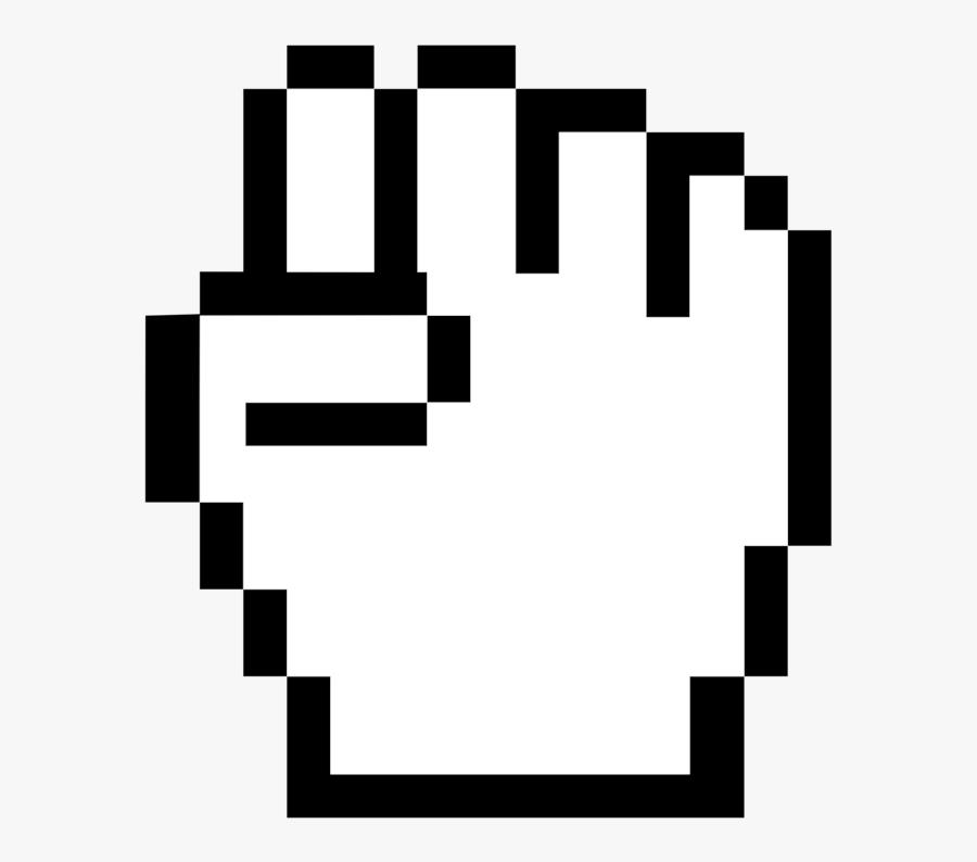 Square,angle,symmetry - Hand Mouse Cursor Png, Transparent Clipart