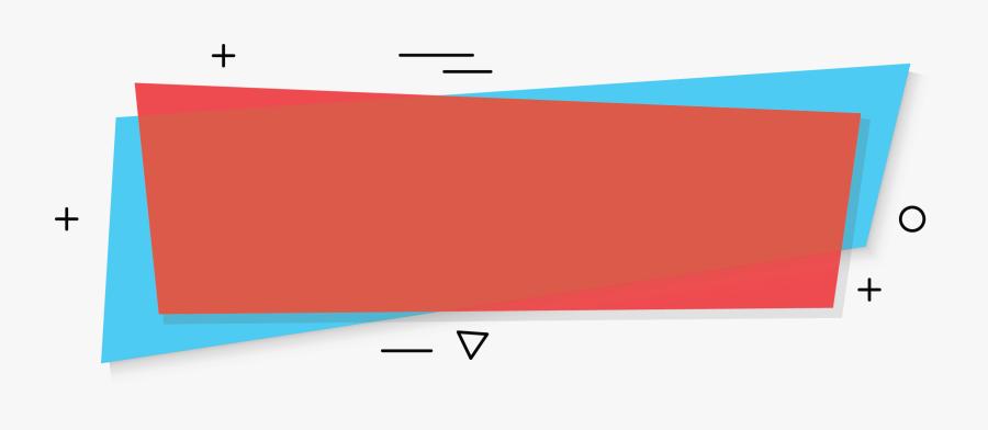 Transparent Banner Shape Png - Blue And Red Banner Background, Transparent Clipart