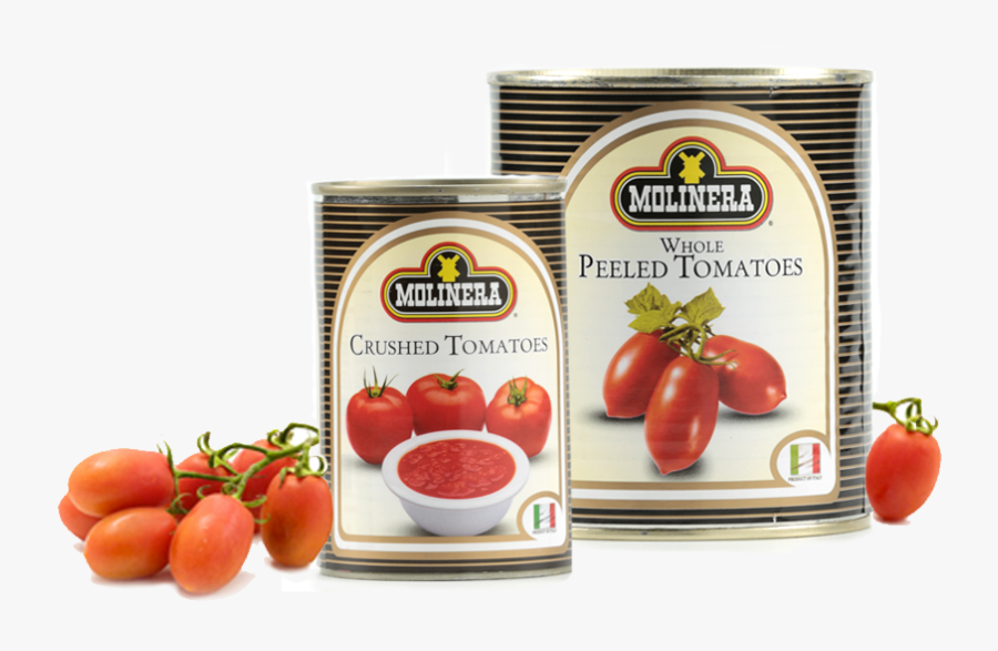 Tomatoes Clipart Canned Tomato - Molinera Whole Peeled Tomatoes, Transparent Clipart