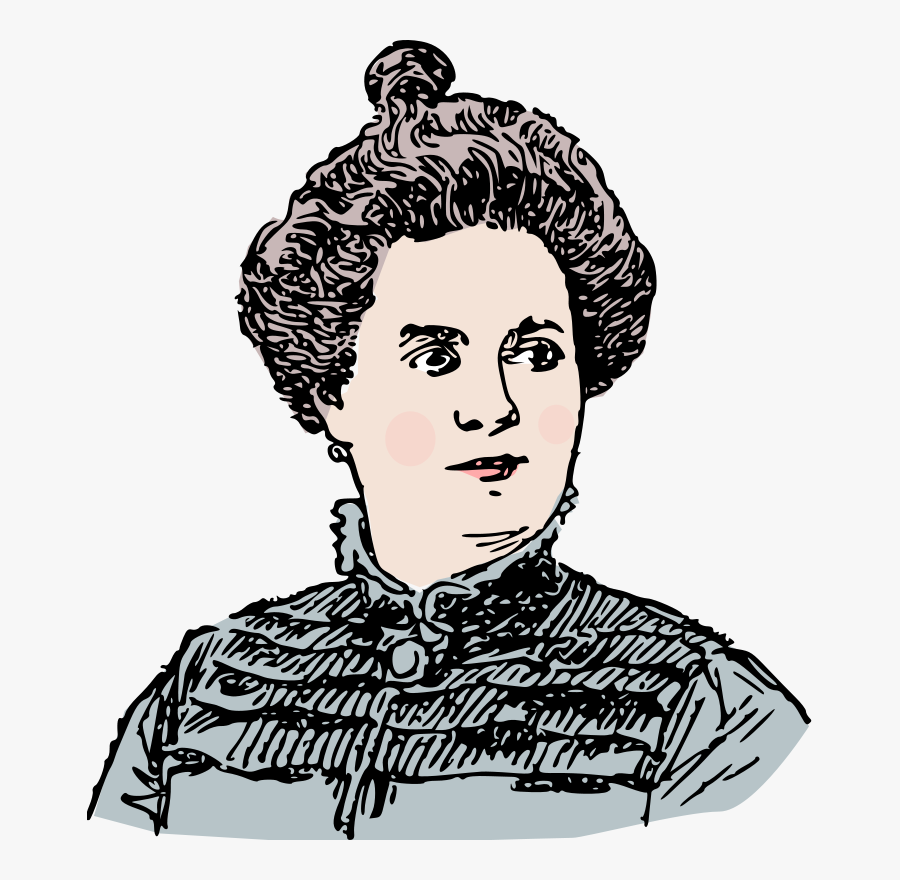 Woman Around 1900 - Old Fashioned Woman Clipart, Transparent Clipart
