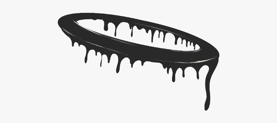 Drippy Halo - Dripping Png In Black, Transparent Clipart