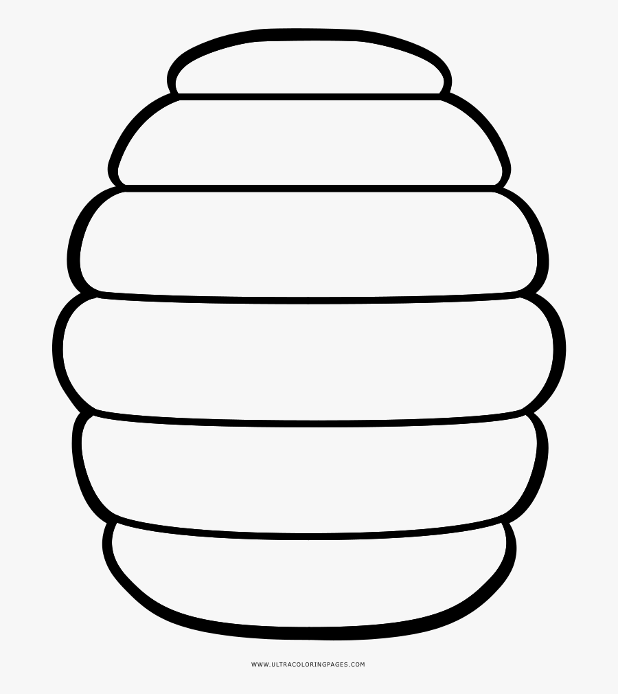 Beehive Coloring Page - Coloring Page Of A Bee Hive, Transparent Clipart