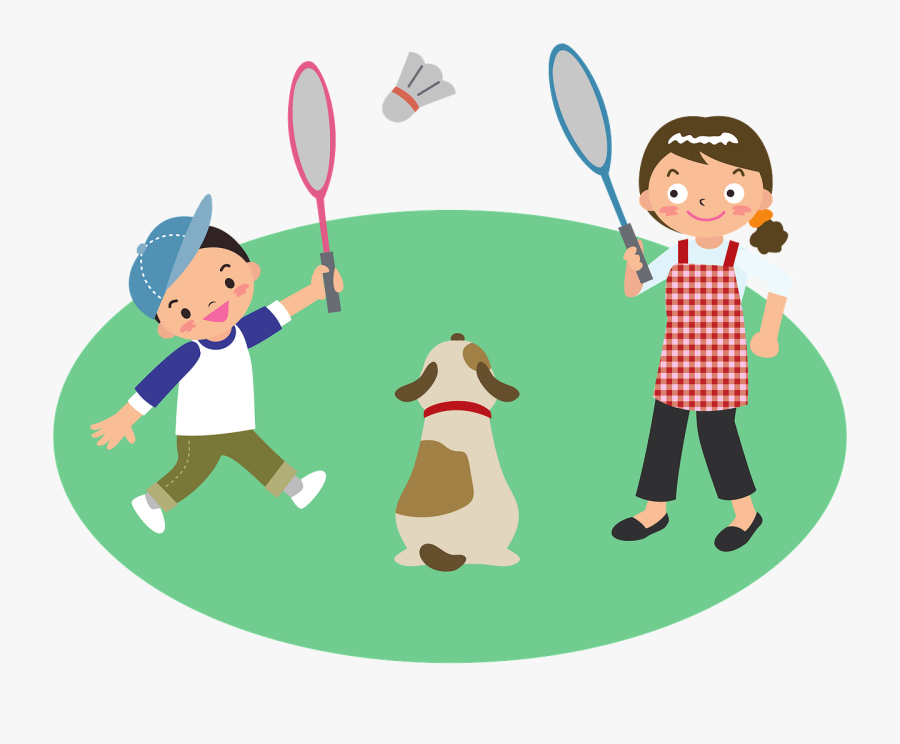 Playing Badminton Clipart Png, Transparent Clipart