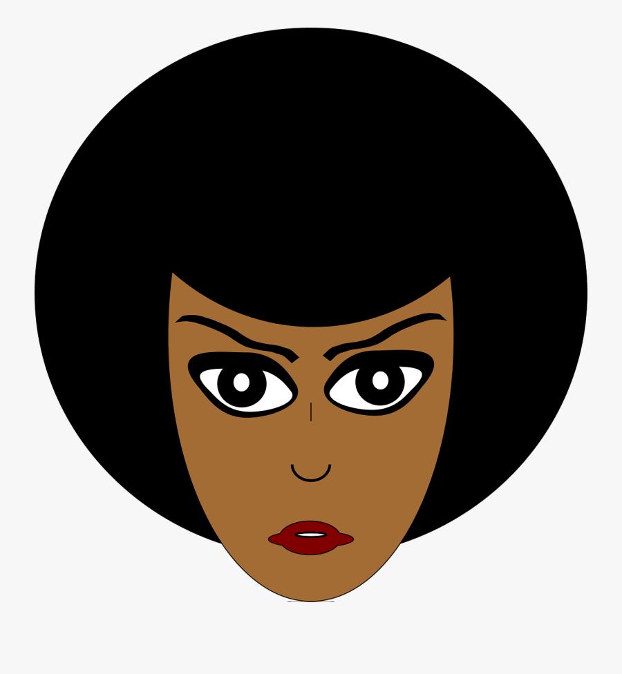 Cartoon African Woman, Transparent Clipart