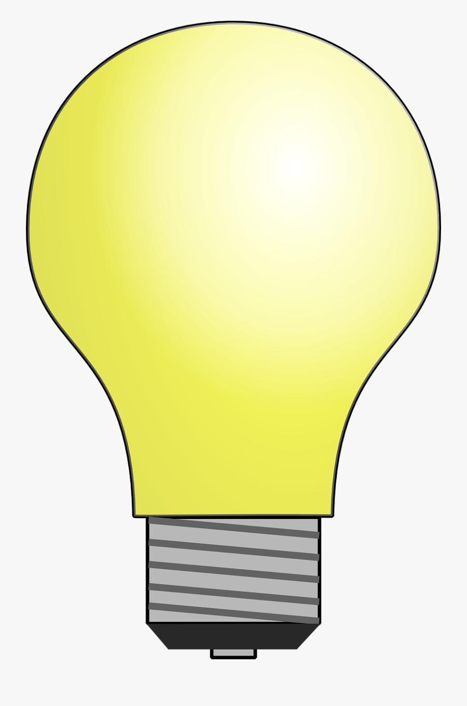 Bulb Clipart Moving Light - Light Bulb No Light, Transparent Clipart