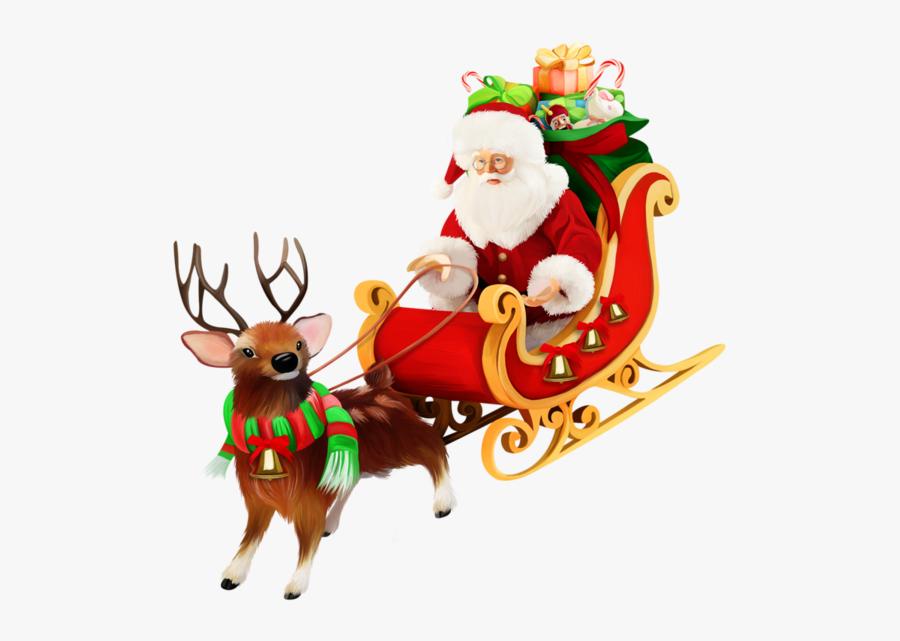 Christmas Sleigh Png - Santa Claus Sleigh Ride, Transparent Clipart