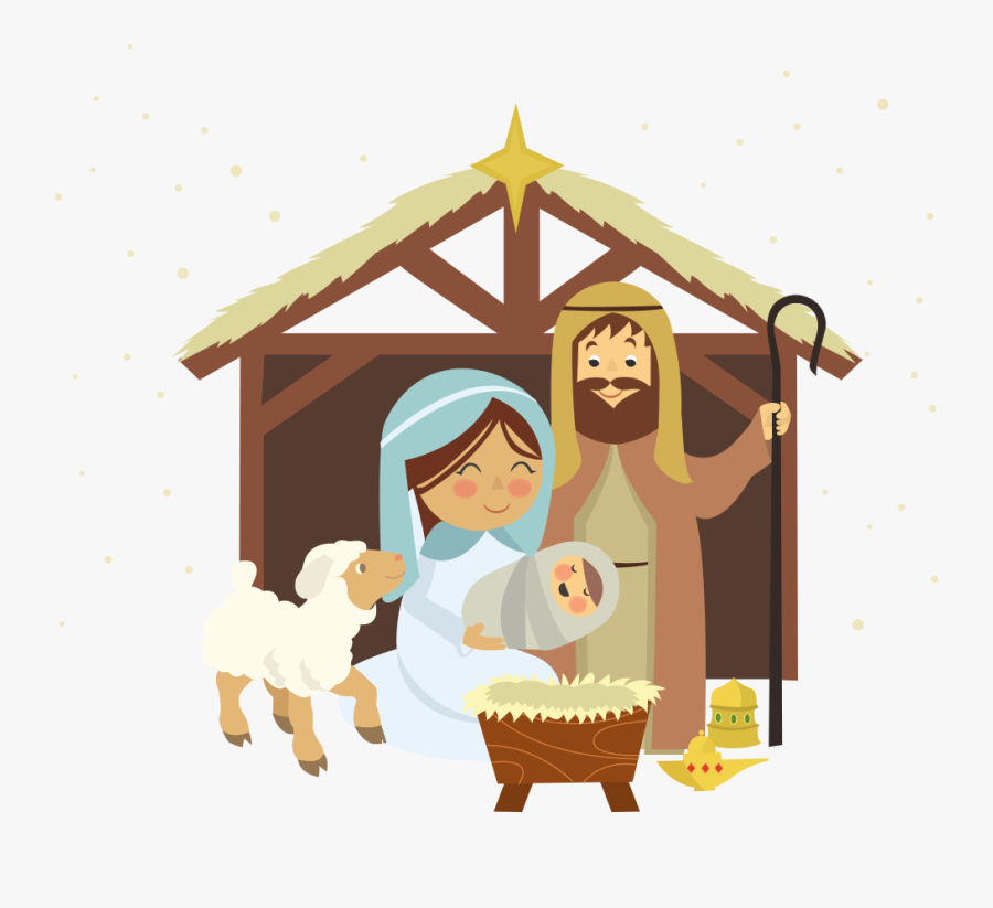Nativity Transparent Background - Cute Nativity Merry Christmas, Transparent Clipart