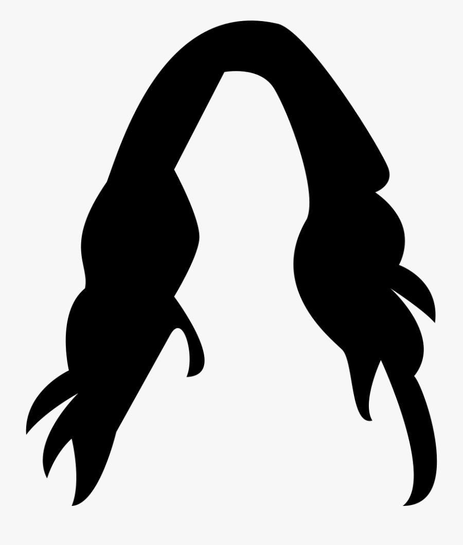 Female Long Dark Hair Wig - Female Hair Vector Png, Transparent Clipart