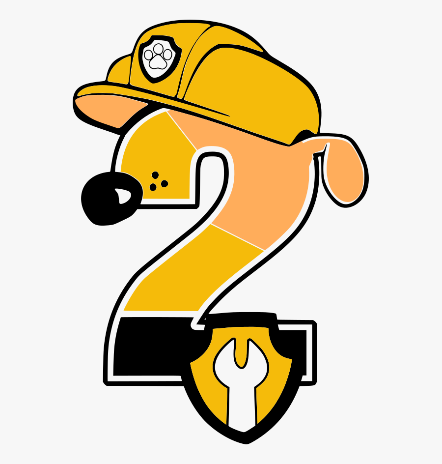 Rubble Paw Patrol Number 2 Rab, Transparent Clipart
