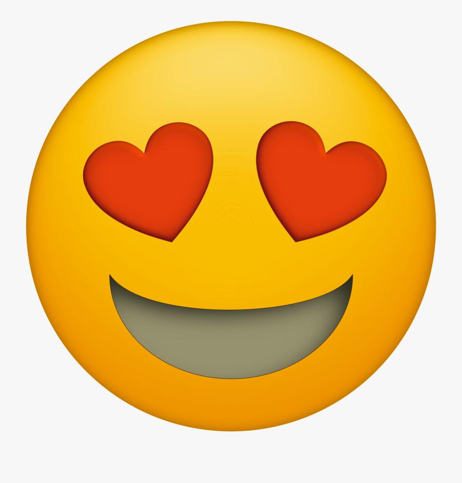 Emoji Printable Faces Heart Eyes - Emoji Heart Eyes Png, Transparent Clipart