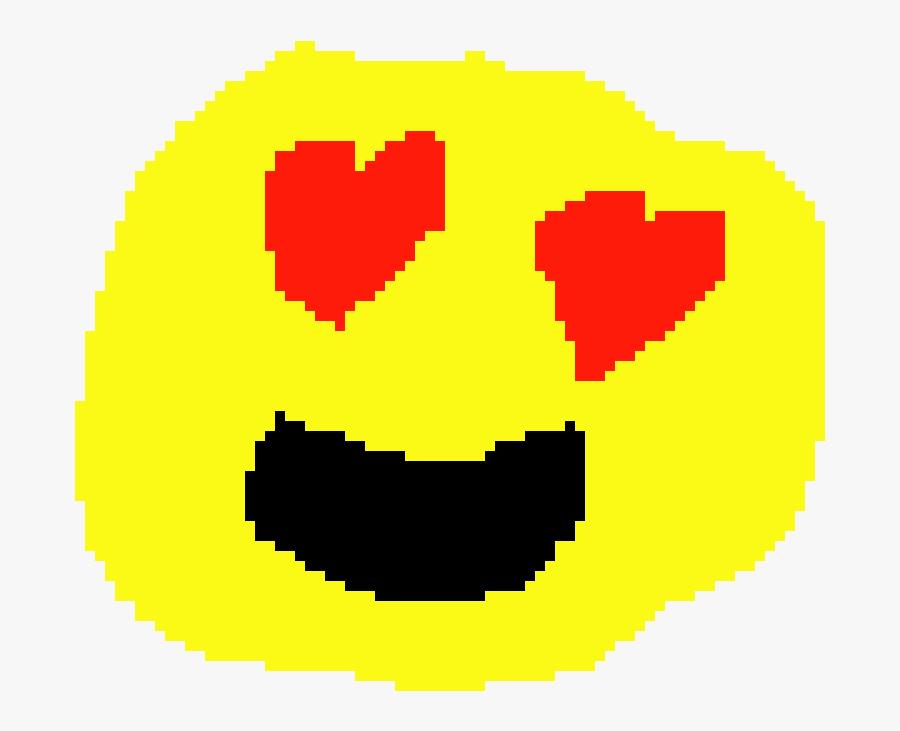 Heart Eyes Emoji On Pixel, Transparent Clipart