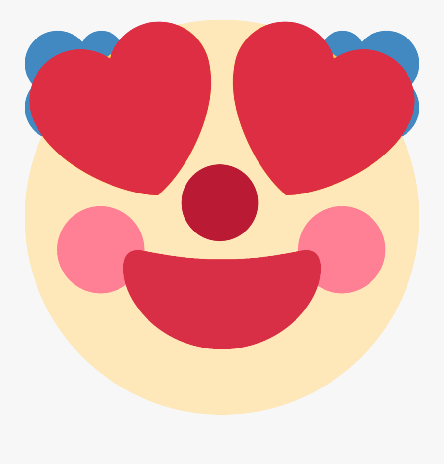 Heart Eyes Clown Discord Emoji - Clown Discord Emoji Edit, Transparent Clipart