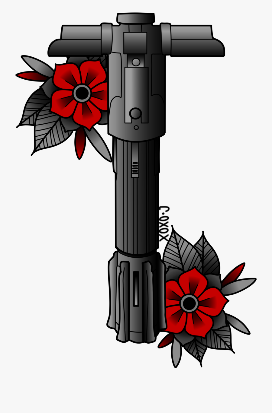 Transparent Jedi Symbol Clipart - Star Wars Tattoo Traditional, Transparent Clipart