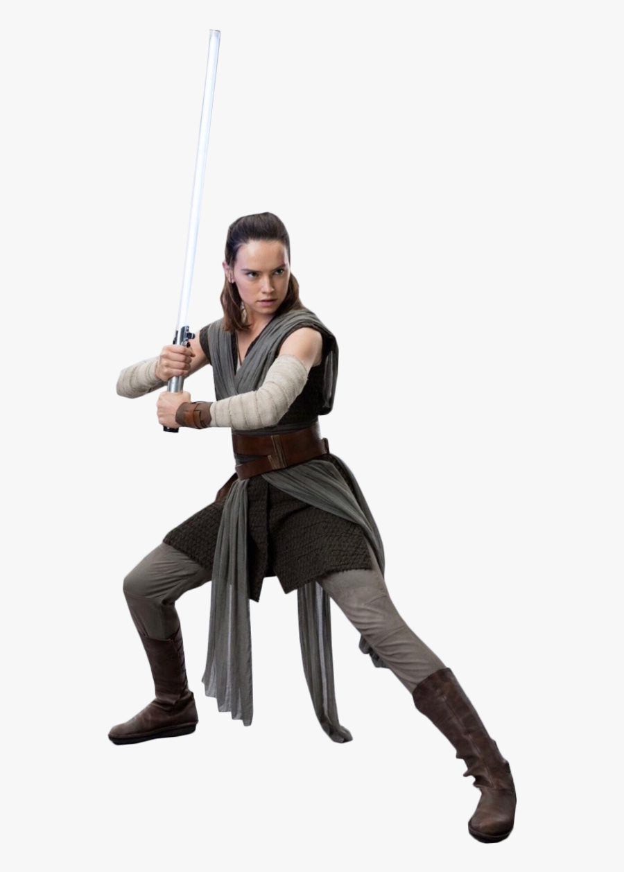 The Last Jedi Rey Luke Skywalker Kylo Ren Daisy Ridley - Last Jedi Rey Costume, Transparent Clipart