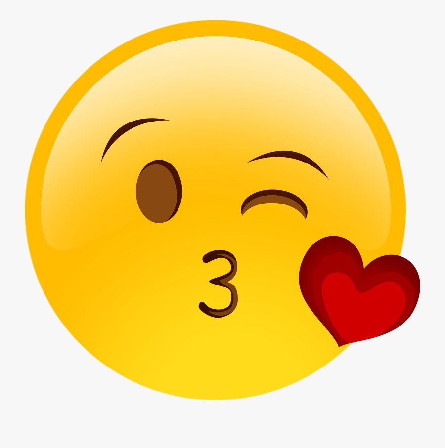 Face With Tears Of Joy Emoji Kiss Wink Smiley - Emoticones De Whatsapp Amor, Transparent Clipart
