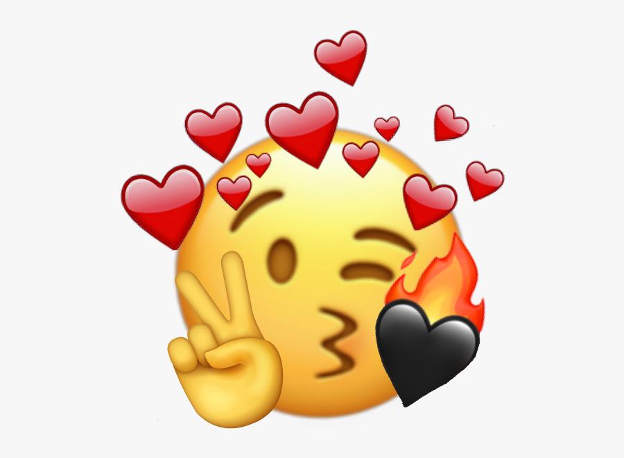 Emoji Iphone Sticker - Emoji Iphone Love Fire, Transparent Clipart