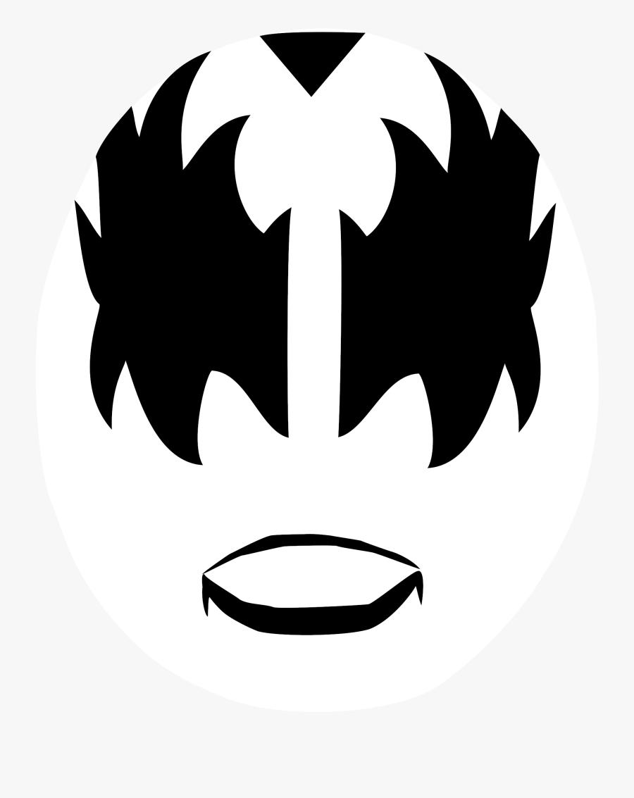 File Devil Face Wikimedia - Kiss Makeup Template Printable, Transparent Clipart