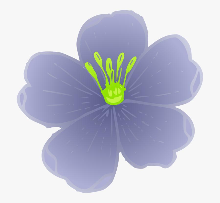 Plant,flower,petal - Flax Plant Clip Art, Transparent Clipart