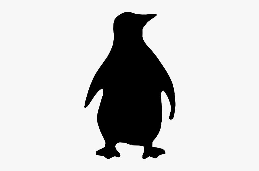 Penguin Silhouette - Penguin Pumpkin Carving Template, Transparent Clipart