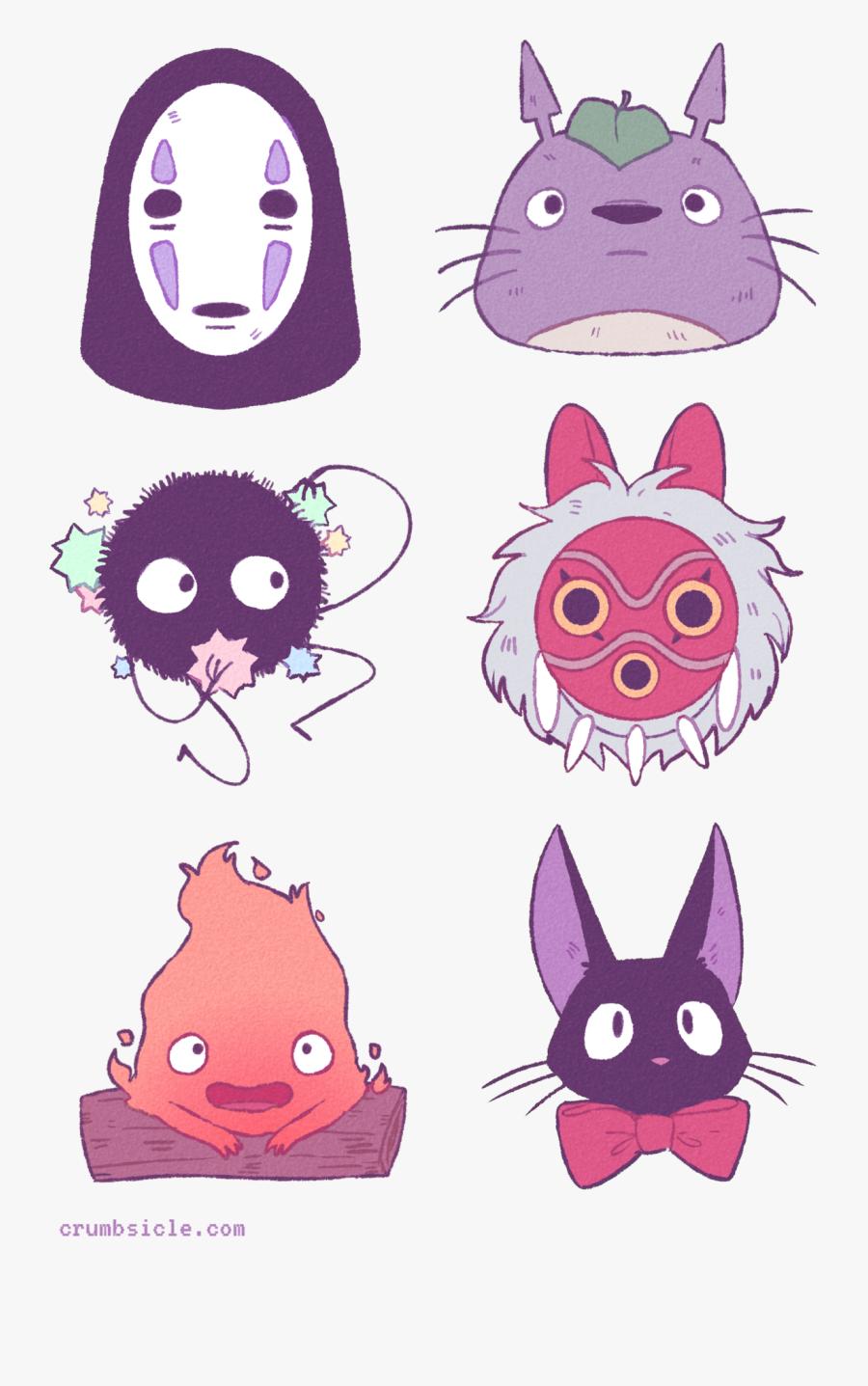 Transparent Studio Ghibli Clipart - Cute Chibi Studio Ghibli, Transparent Clipart
