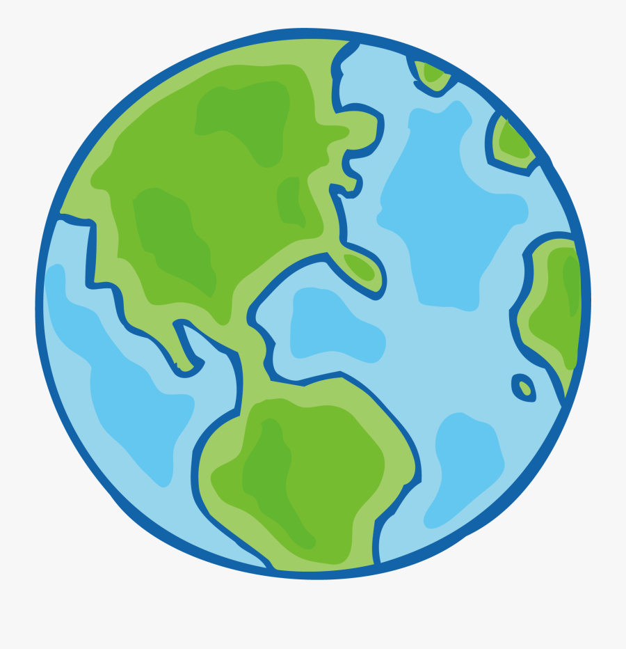 Earth Cartoon Png Download - Earth Drawing, Transparent Clipart