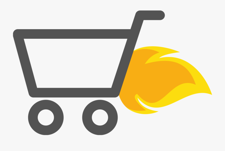 Transparent Shopping Carts Clipart - Shopping Cart On Fire Png, Transparent Clipart