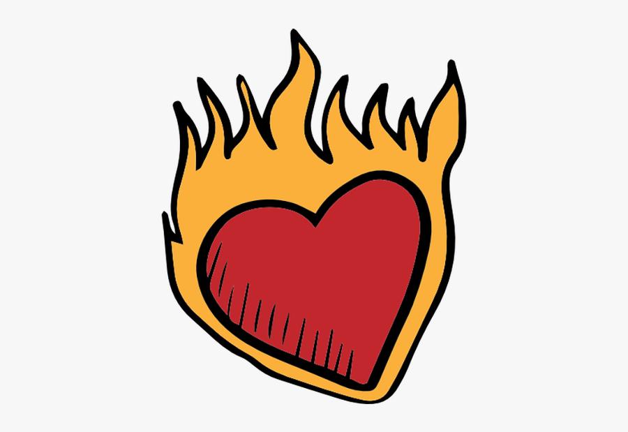 #heart #fire #dark #broken #heart #emoji #crown #circle - Icon, Transparent Clipart
