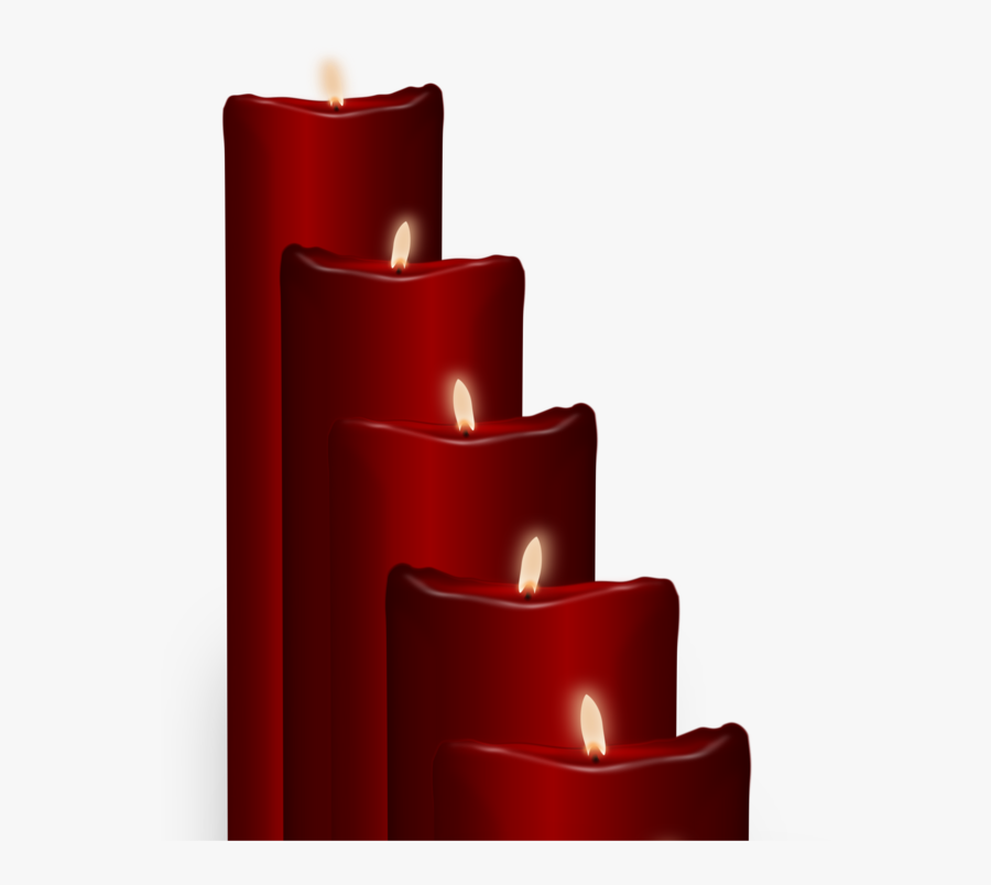 Red Wax Christmas Candles, Transparent Clipart