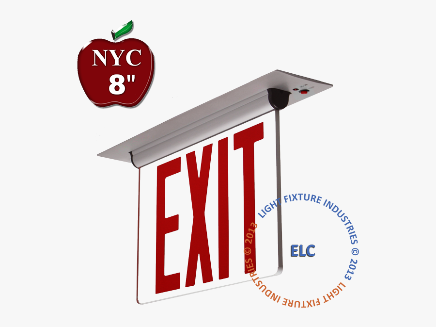 Nycelrtr Nyc Exit Signs - Exit Sign New York, Transparent Clipart