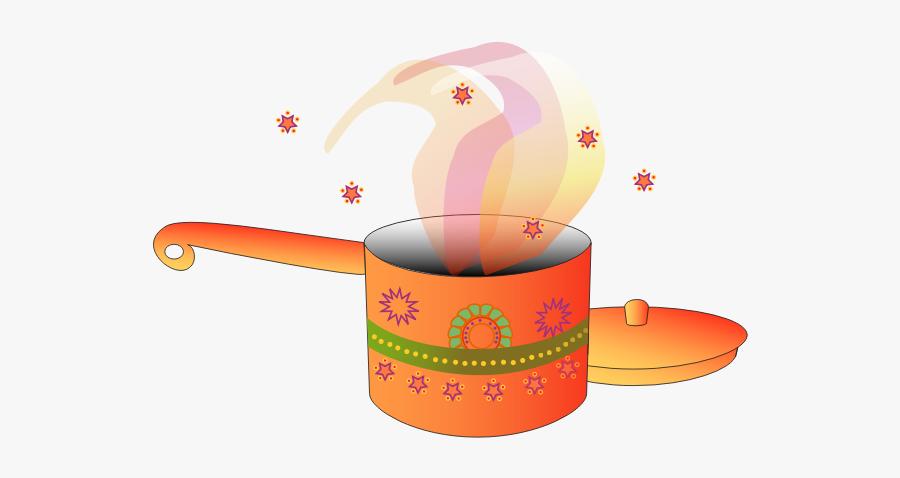 Image Of Decorated Cooking Pot With Lid - Desenhos De Panelas Coloridos, Transparent Clipart