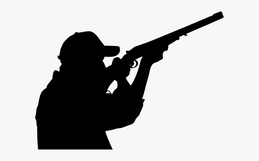 Hunter Shooting Silhouette, Transparent Clipart