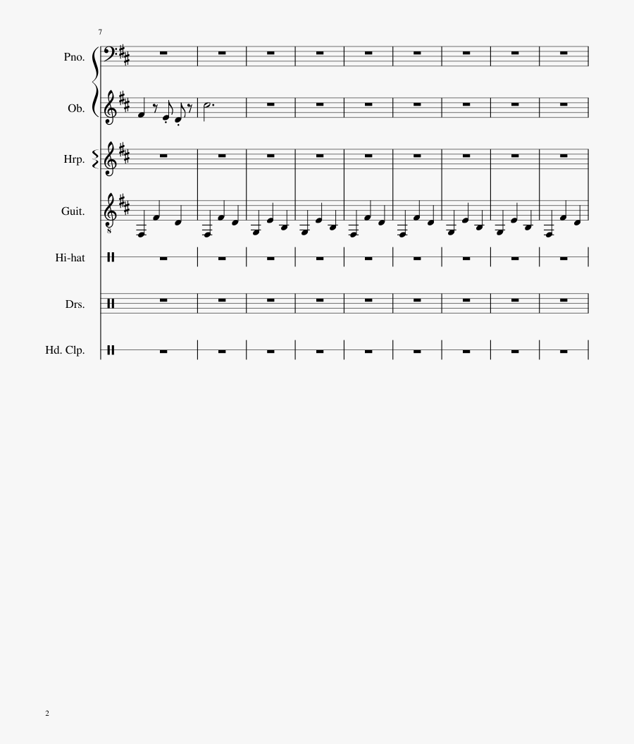 Tunnel Vision Sheet Music 2 Of 9 Pages - Sheet Music, Transparent Clipart