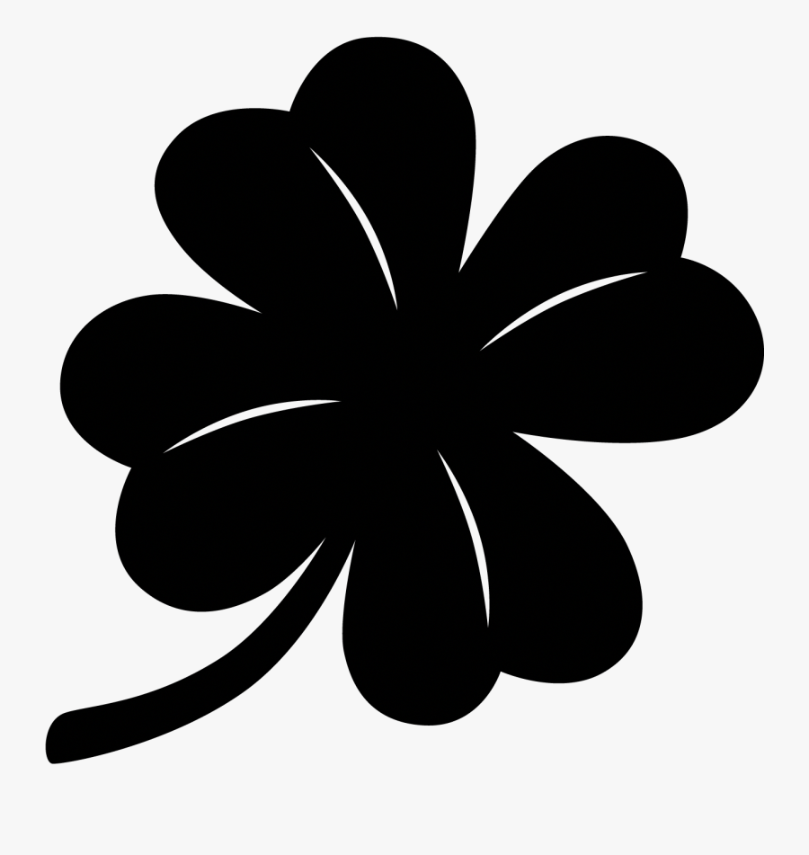 5 Leaf Clover Drawing, Transparent Clipart