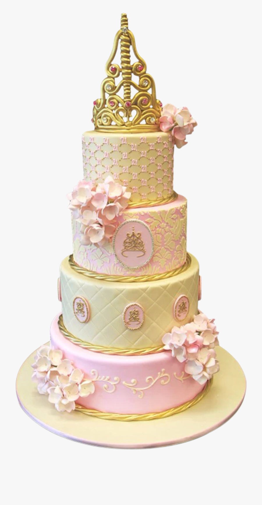 Transparent Wedding Cake Clipart Png - 21st Birthday Cakes Princess, Transparent Clipart