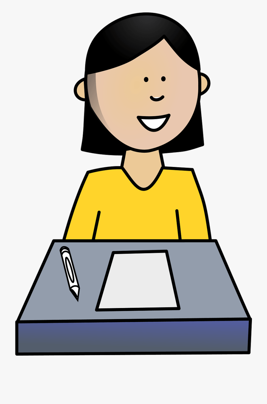 Drawing Of Student, Transparent Clipart