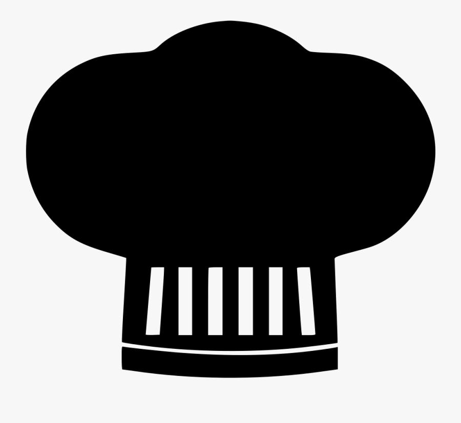 Chef Restaurant Chefhat Cap Hygiene Cooking Svg - Icono De Gorro De Chef, Transparent Clipart